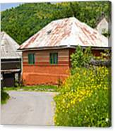 Orange House In A Romanian Village Canvas Print