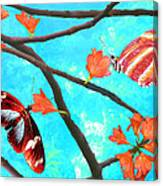 Orange Leaves Canvas Print