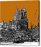 Dark Ink With Bright Orange London Skies Canvas Print
