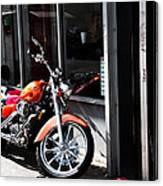 Orange Motorcycle Canvas Print