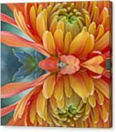 Orange Mum's Watery Reflection Canvas Print