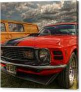 Orange Mustang Canvas Print