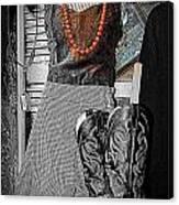Vintage Orange Necklace Canvas Print