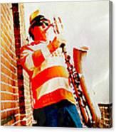 Orange On White Canvas Print