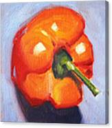 Orange Pepper Still Life Canvas Print