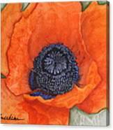 Orange Pop Watercolor Canvas Print