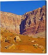 Orange Rock Before The Cliffs Canvas Print