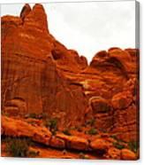 Orange Rock Canvas Print