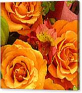 Orange Roses Canvas Print