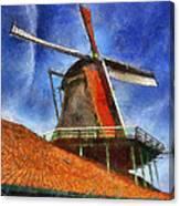 Orange Sails Canvas Print