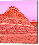 Orange Slice Mountain Canvas Print