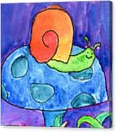 Orange Snail Canvas Print