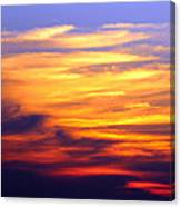 Orange Sunset Sky Canvas Print
