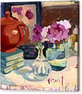 Orange Teapot Canvas Print