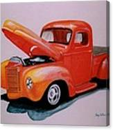 Orange Truck Canvas Print