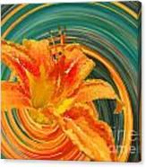 Orange Twist Daylily Photoart Canvas Print