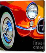 Orange Vette Canvas Print