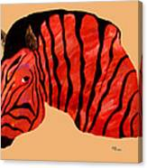 Orange Zebra Canvas Print