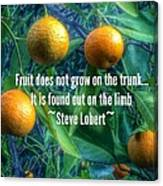 Oranges On A Limb Quote   Canvas Print