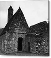 Oratory Known As St Kevins Kitchen Glendalough Monastery County Wicklow Republic Of Ireland Canvas Print