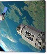 Orbital Maintenance Docking Canvas Print