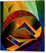 Orbiting Circle Spinning Square Canvas Print