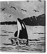 Orca Free And Happy Canvas Print
