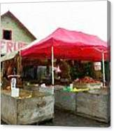 Orchard Fruit Stand Canvas Print