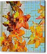 Orchid Drapes Canvas Print