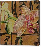 Orchid With Tapa Canvas Print