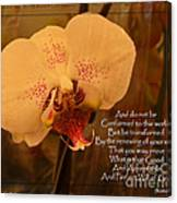 Orchid With Verse Canvas Print