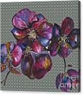 Orchids Grey Bubble Canvas Print