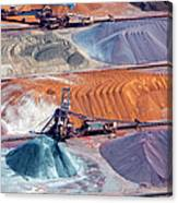 Ore And Conveyor Belt Aerial Canvas Print