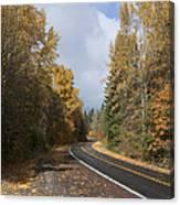 Oregon Autumn Highway Canvas Print