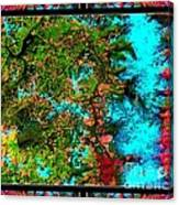 Oregon Cascades Nasa Satellite Canvas Print