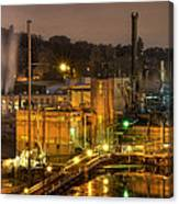 Oregon City Electricity Power Plant At Night Canvas Print