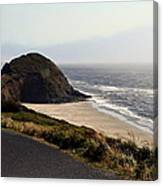 Oregon Coast And Fog Canvas Print