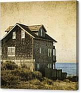 Oregon Coast Beach House Canvas Print