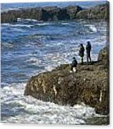 Oregon Coast Fishermen Canvas Print