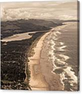 Oregon Coast From Above Canvas Print