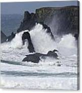 Oregon Coast Furrious Waves 1 Canvas Print