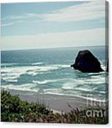 Oregon Coast Ghost Surfer Canvas Print
