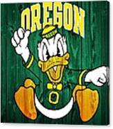 Oregon Ducks Barn Door Canvas Print