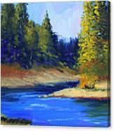 Oregon River Landscape Canvas Print