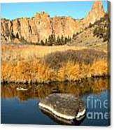 Oregon River Rock Reflections Canvas Print