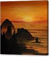 Oregon Sunset Canvas Print
