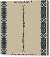 O'reilly Written In Ogham Canvas Print