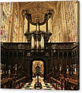 Organ And Choir - King's College Chapel Canvas Print