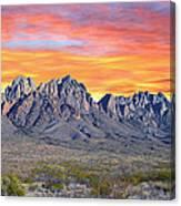 Organ Mountain Sunrise Most Viewed  Canvas Print