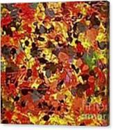 Orgy In Orange Canvas Print
